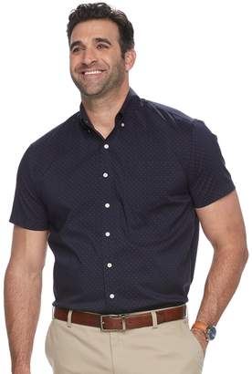 Dockers Big & Tall Classic-Fit Comfort Stretch No-Wrinkle Button-Down Shirt