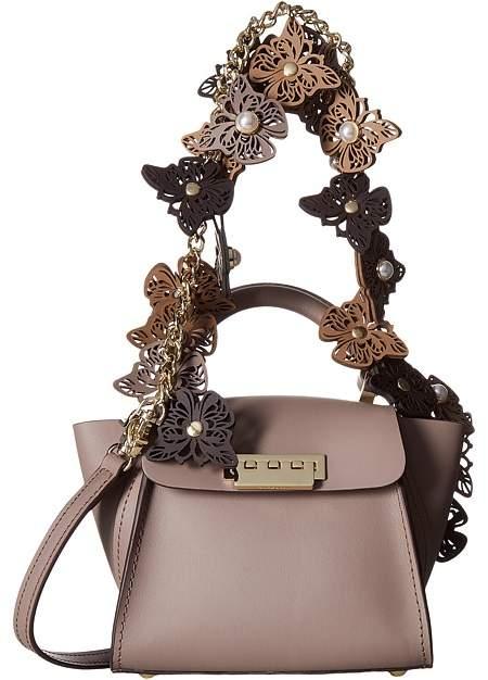 ZAC Zac Posen - Eartha Iconic Novelty Top-Handle Mini - Butterfly Applique Top-handle Handbags