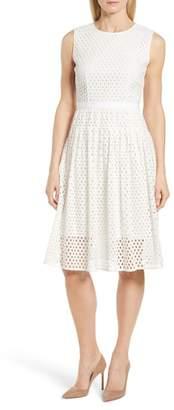 BOSS Dafalia Cotton Eyelet Dress