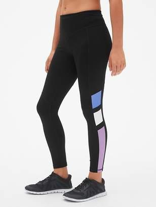 104d6b08cc Gap GapFit High Rise Blackout Colorblock Full Length Leggings