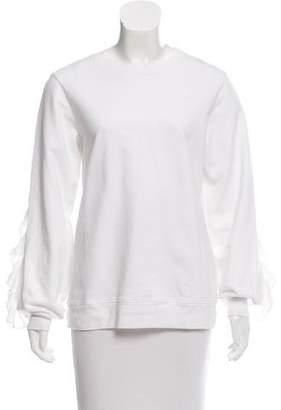 Clu Ruffle-Accented Sweatshirt