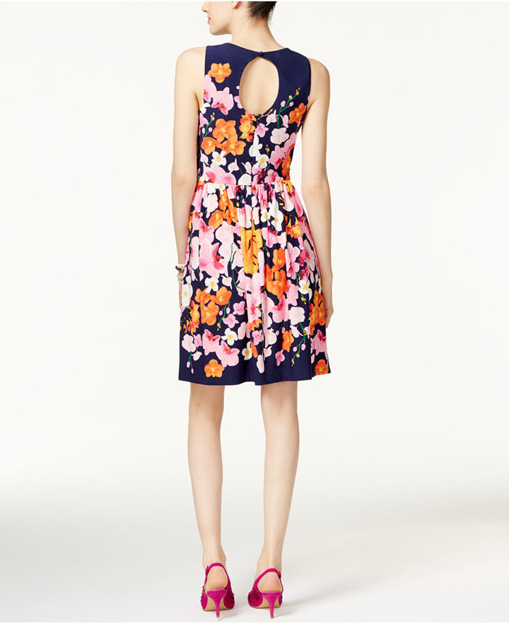 INC International Concepts Pleated Fit & Flare Dress, Only at Macy's 2