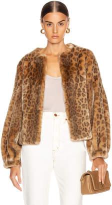 Shrimps Fergal Faux Fur Coat in Natural Leopard | FWRD