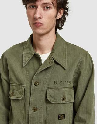 Neighborhood Long Sleeve Mil-Utility Shirt in Olive Drab