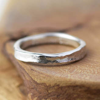 Alison Moore Designs Textured Handmade Silver Storybook Message Ring