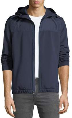 Michael Kors Men's Sporty Scuba Zip-Front Hoodie Jacket