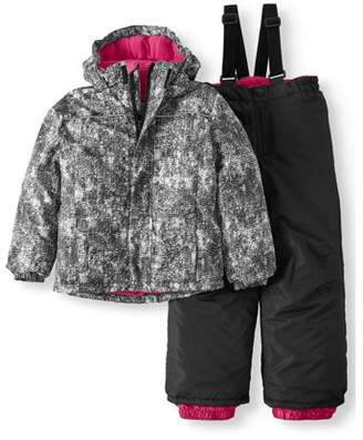 Iceburg Fur Trim Hood Jacket And Snow Bib, 2-Piece Set (Little Girls & Big Girls)