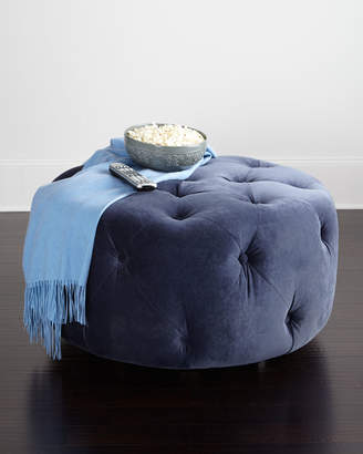 Horchow Betts Tufted Round Ottoman