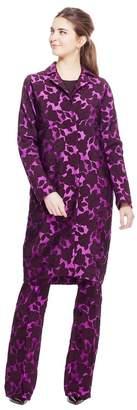 Lela Rose Floral Matelasse Topper Coat