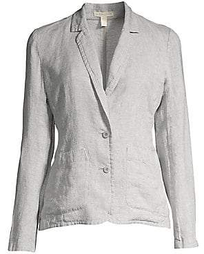 Eileen Fisher Women's Linen-Blend Sparkle Blazer