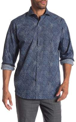 Bugatchi Abstract Print Woven Classic Fit Shirt
