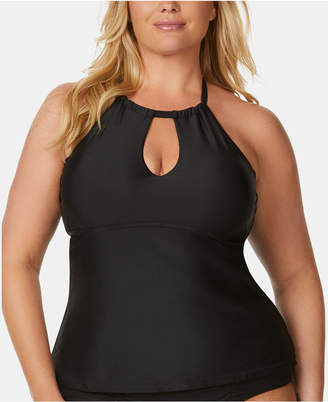 Raisins Curve Trendy Plus Size Juniors' Keyhole Tankini Top Women's Swimsuit