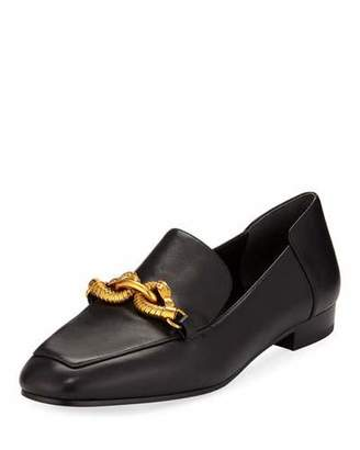 Tory Burch Jessa Leather Loafers w/ Horse Hardware
