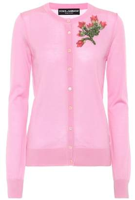 Dolce & Gabbana Embellished cashmere cardigan