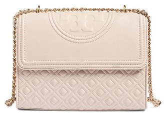 Tory Burch 'Fleming' Convertible Shoulder Bag - Beige $498 thestylecure.com