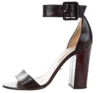 Diane von Furstenberg Leather Ankle Strap Sandals