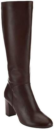 Halston H By H by Leather Tall Shaft Heeled Boots - Beverly