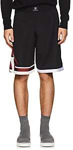 Givenchy Men's Lightning-Bolt Mesh Shorts - Black