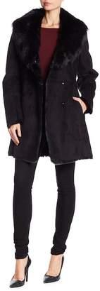 Andrew Marc Sarah Faux Fur Suede Jacket