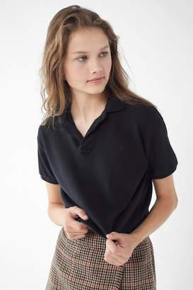 Urban Renewal Vintage Remade Overdyed Cropped Polo Shirt