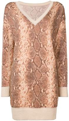 Twin-Set snakeskin effect jumper
