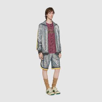 Gucci Laminated sparkling GG jersey shorts