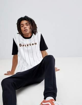 Brixton Proxy Henley T-Shirt With Baseball Stripe