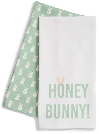 Honey Bunny Set of 2 Dishtowels