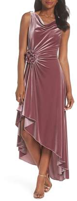 Eliza J Drape Neck Midi Dress