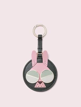 Kate Spade Spademals Money Bunny Dangle Keychain, Deep Evergreen