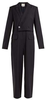 Tibi Tablier Blazer Jumpsuit - Womens - Navy