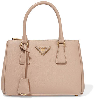 Prada - Galleria Mini Textured-leather Tote - Beige $1,920 thestylecure.com