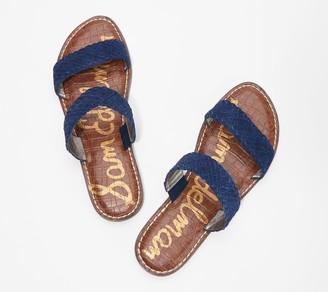 Sam Edelman Braided Double Strap Slide Sandals - Gala 2