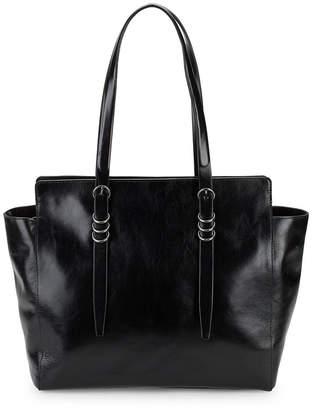 At Rue La Halston Classic Leather Shoulder Bag