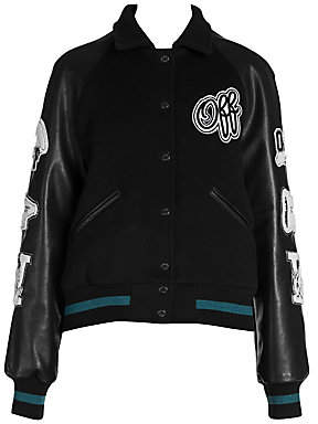 fb7a1f7f4b68 Off-White Women s Vintage College Varsity Jacket
