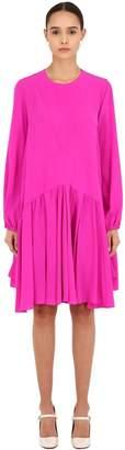 Rochas Silk Crepe De Chine Dress