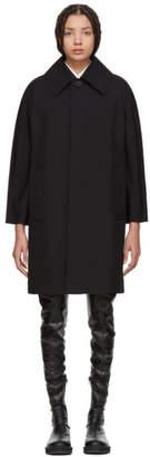 Junya Watanabe Black Nylon Oversized Collar Coat