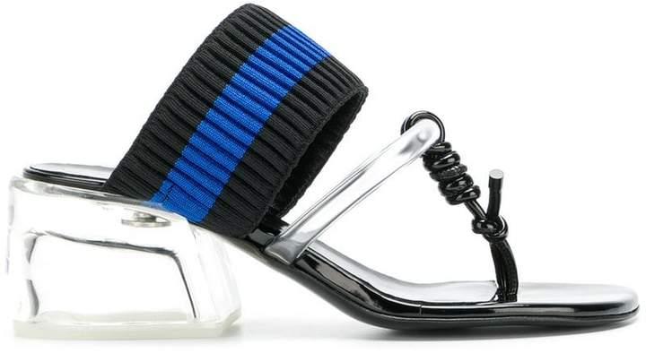3.1 Phillip Lim striped open-toe sandals