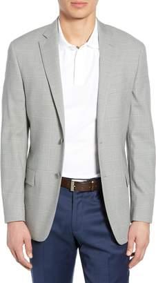 Hart Schaffner Marx Classic Fit Stretch Windowpane Wool Sport Coat