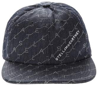 Stella McCartney Navy Monogram Baseball Cap