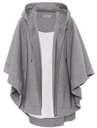 Burberry Embroidered cotton-blend cape