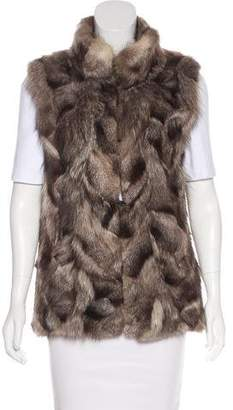 Pologeorgis Pieced Fur Vest