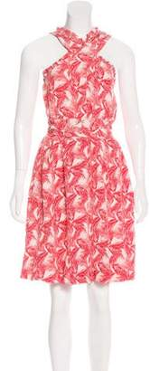 See by Chloe Abstract Print Silk Dress