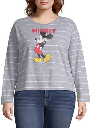 Freeze Mickey Mouse Cropped Tee - Juniors Plus
