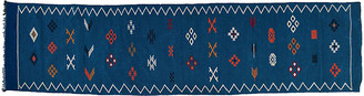 One Kings Lane Vintage Moroccan Blue Runner - 10'3'' x 2'8'' - The Moroccan Room
