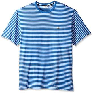 Lacoste Men's Crewneck Jersey Stripe T-Shirt