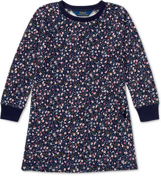 Polo Ralph Lauren Toddler Girls Floral-Print French Terry Cotton Dress