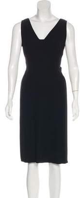 Max Mara Sleeveless V-neck Midi Dress
