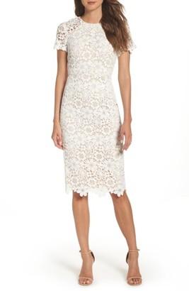 Women's Shoshanna Beaux Lace Midi Dress $395 thestylecure.com