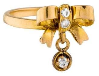Ring 14K Diamond Bow